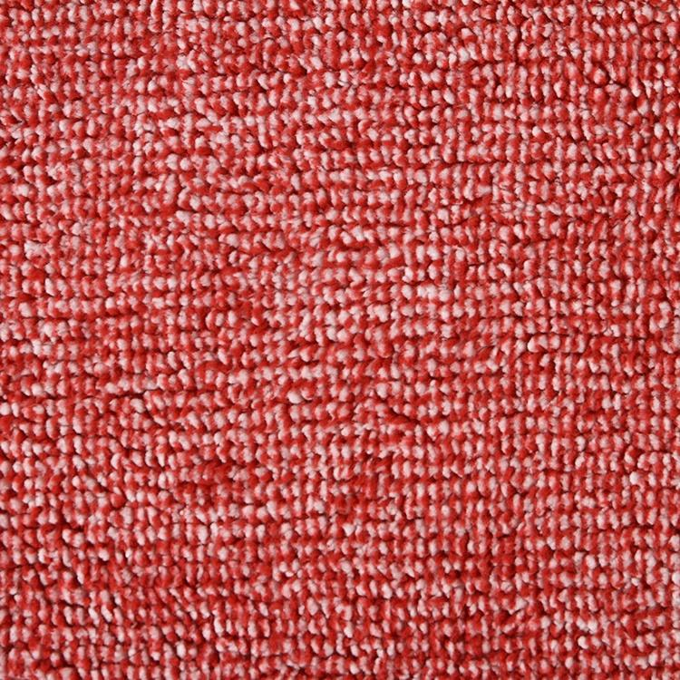 Christmas red melange bonded brush knitted plain dyed polar fleece sherpa