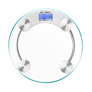 Body Scale Digital Personal Scale, 180Kg Body Weighing Round Glass Electronic China Weight Scale