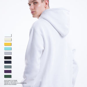 Popular hot selling crew neck hooded oversized sweatshirt custom hip hop streetwear heavyweight cotton plain hoodies unisex