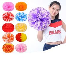 32cm not dying reusable matt solid color Cheering Squad Spirited Fun Cheerleading Kit stick handle Cheer Pom Poms