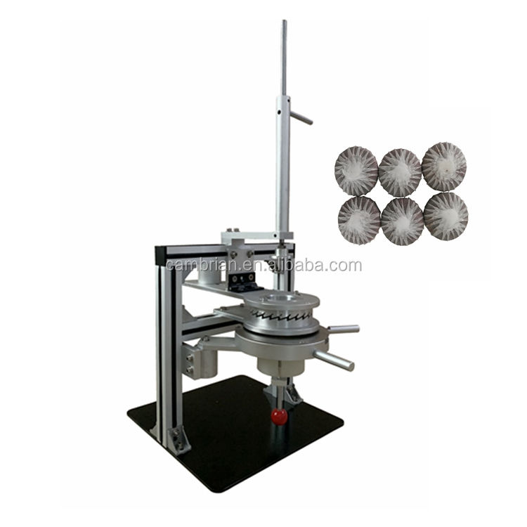 Main wrapping part table type simple cheapest manual soap pleat packing machine with mold low price