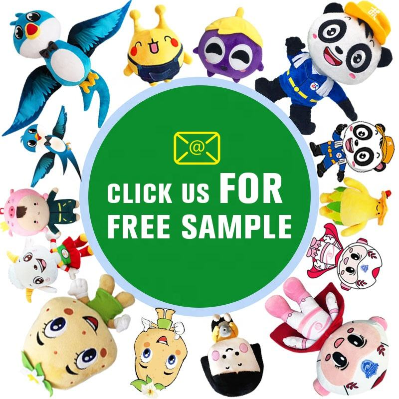 Wholesale custom your logo plush toy according to the picture design cartoon animal OEM toy