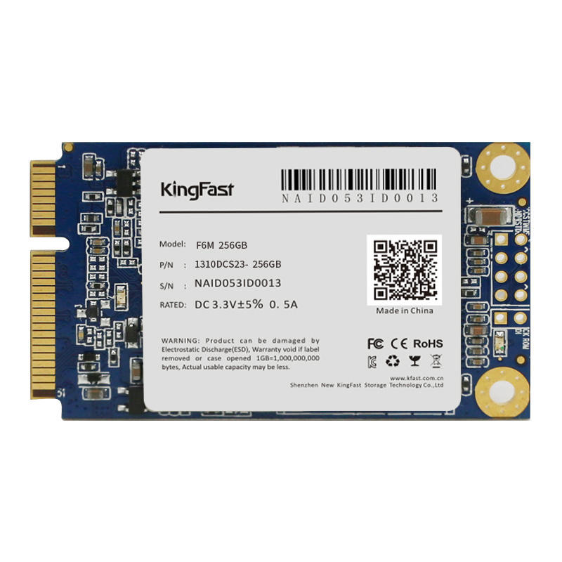 256GB mSATA KingFast SSD Super Fast Read And Write Speed used ssd hard disk