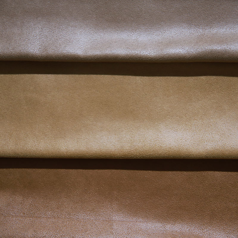 JES Factory wholesale high quality polyester soft faux leather suede fabric
