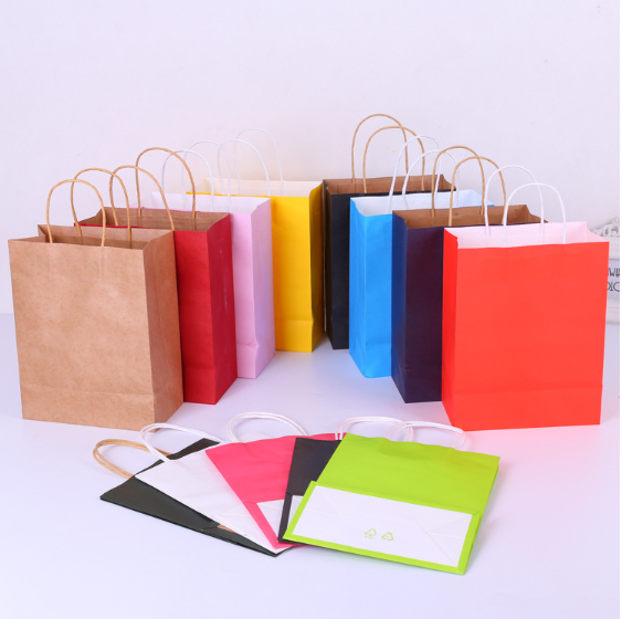 wholesale custom kraft paper bag hand bag gift bag for shopping, package,