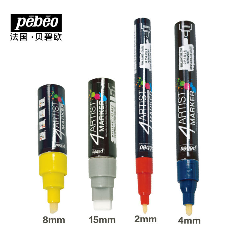 Newest selling Art drawing brushes Wide head artist oily marker Art graffiti marker