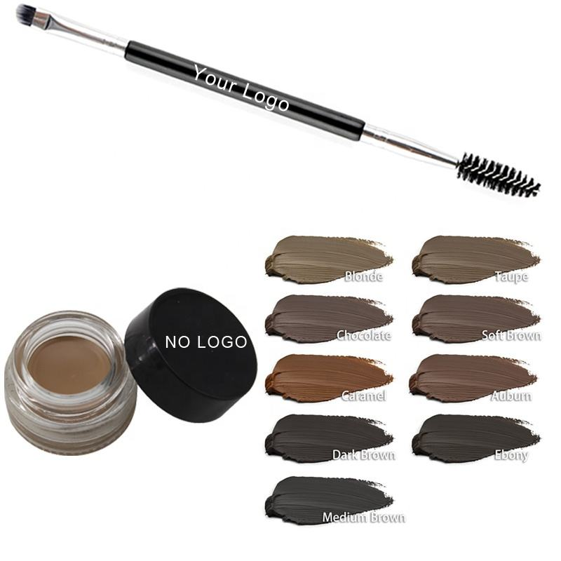 Hot Selling Eyebrow Pomade 9 Color Waterproof Eyebrow Your Own Brand Eyeshadow Gel