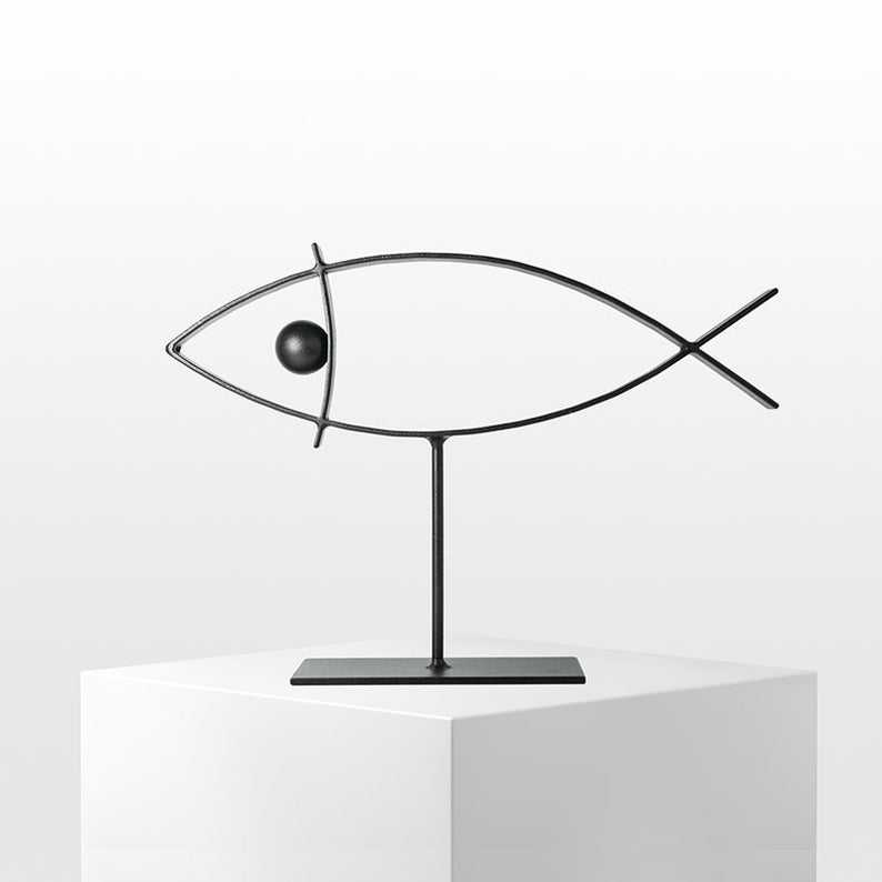Sky Fish Display Holder Necklace Stand Earring Display Stand Jewellery Display Holder Bracelet Stand Applies to All jewelery and Saving Space Gray
