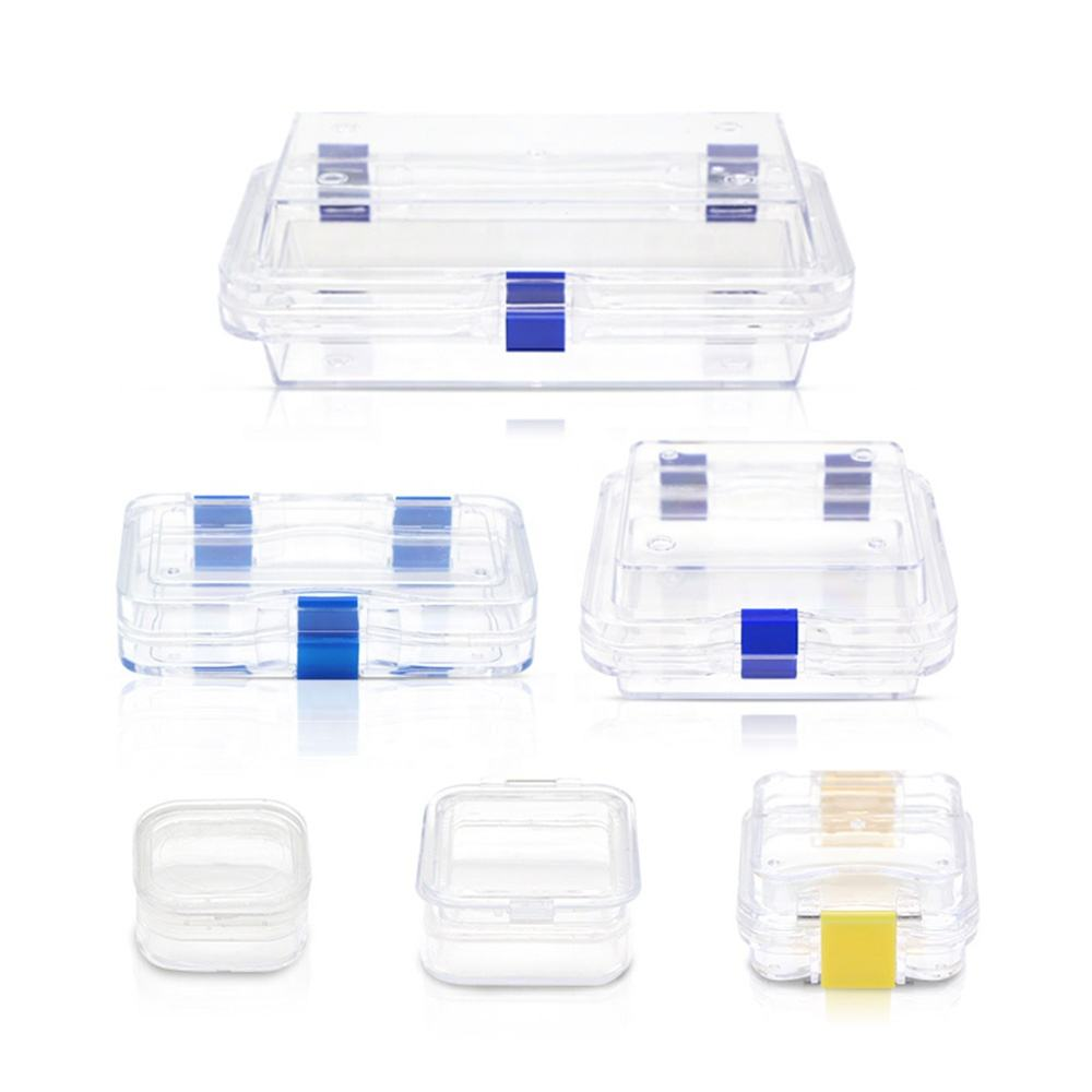 dental Application Storage Box With Membrane clear denture tooth tray denture plastic storage tooth box denture storage box