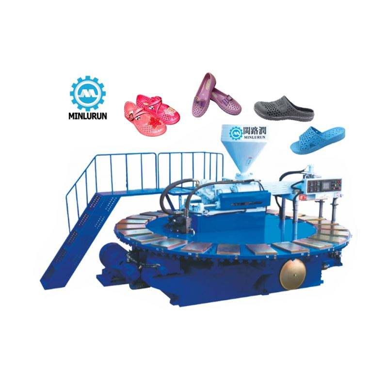 Rotary Plastic PCU Shoes Slipper Sandal Flip Flop Making Pvc Injection Machine Mocation shoe machinery