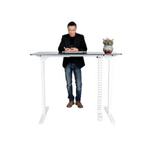 2019 modern office table best quality CEO lifting automatic standing lifting desk