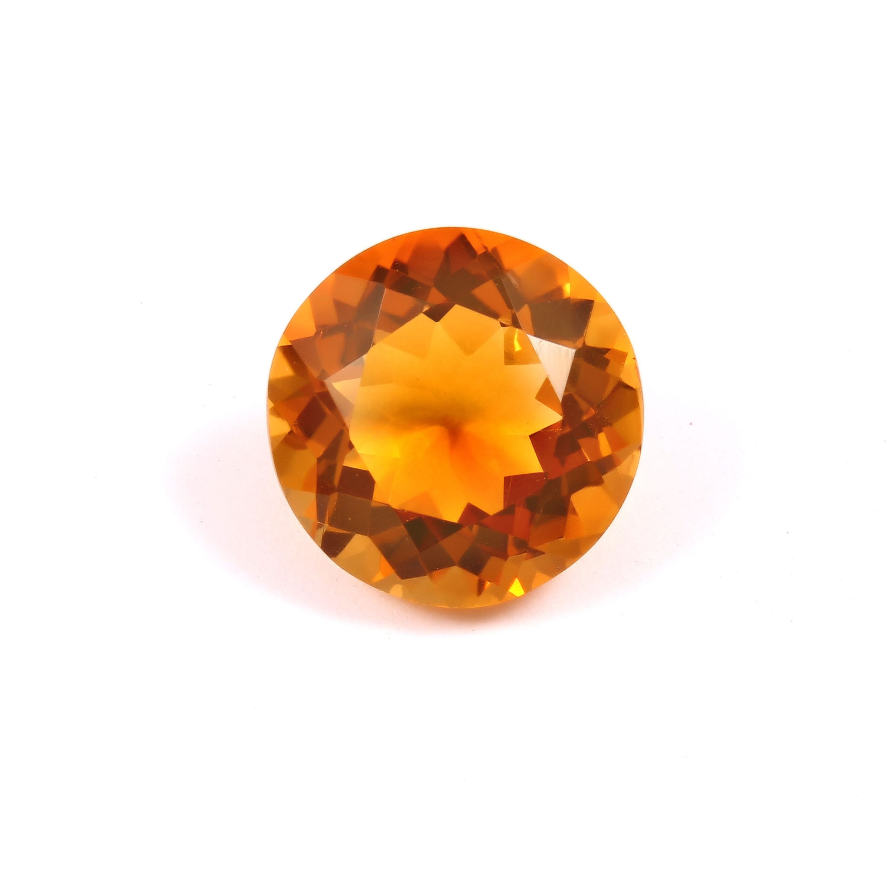 Perfect Natural Citrine Golden C 1 Color 13 MM Round Shape Excellent Cutting And Polished Quality