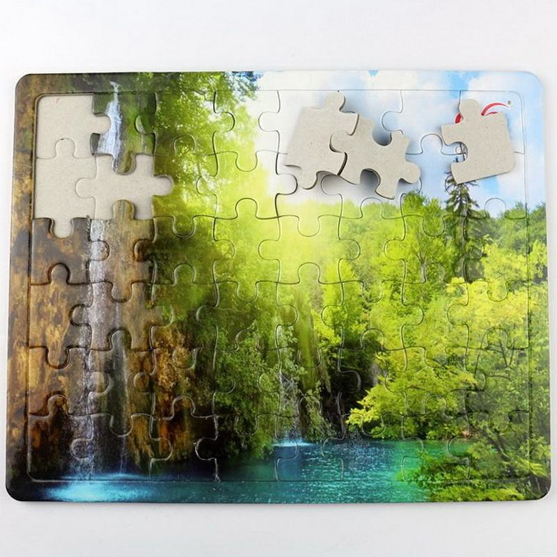 Custom education toys 100/300/500/1000 pieces adult jigsaw paper puzzle wholesale with oem printing
