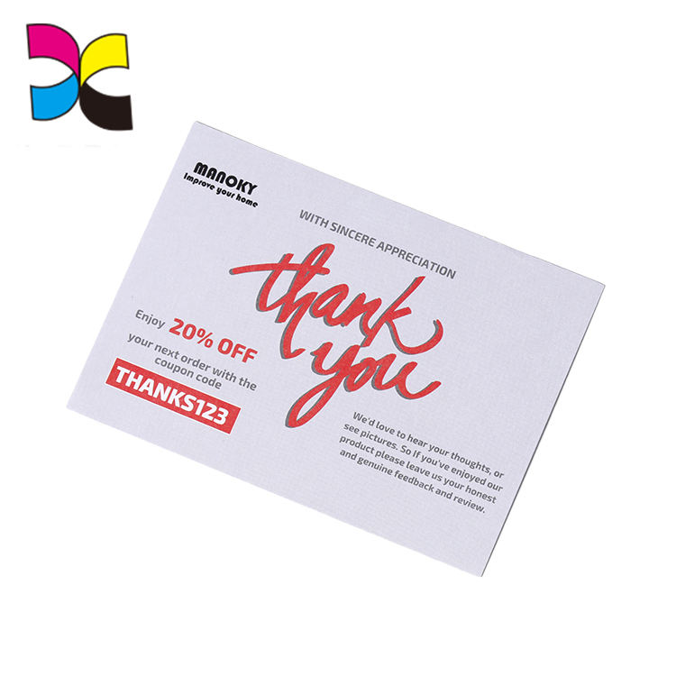 OEM Greeting Thank You Cards Custom With Logo Card Printing