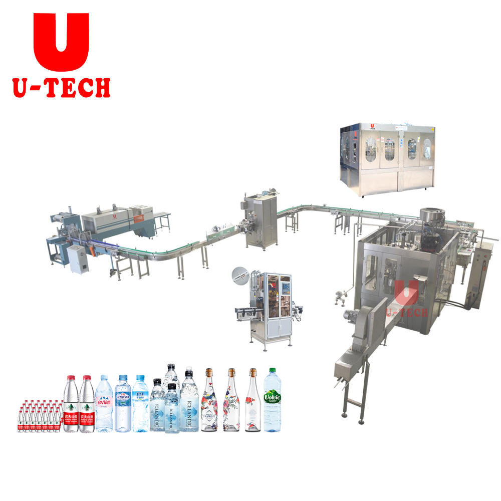 Small scale automatic plastic pet bottle spring mineral pure drinking water bottling machine equipment price