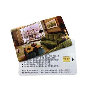 Free Sample Print Your Logo PVC Card Contact Chip Card
