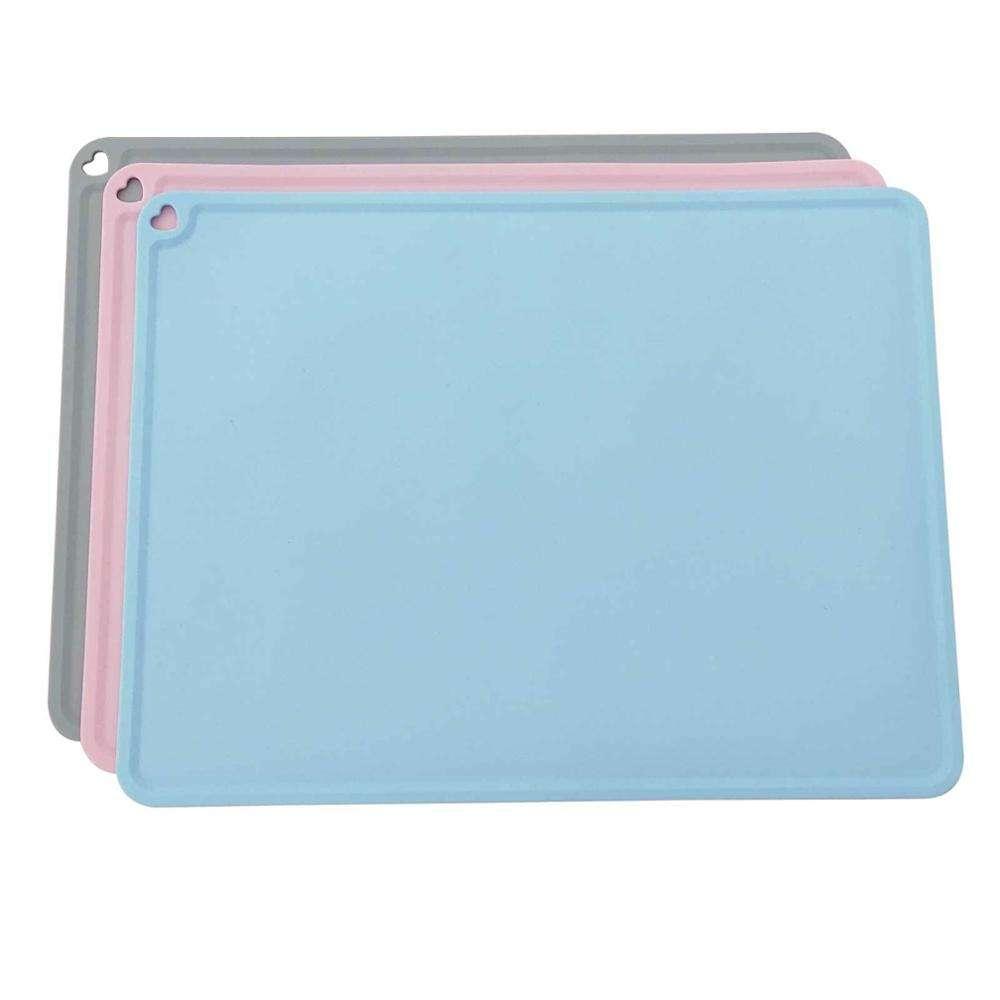 Fabricante atacado azul rosa cinza amor forma dog pet feeding silicone mat