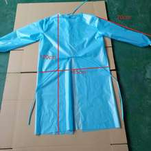 Factory directly supply pp non-woven apron disposable waterproof long woven sleeve gowns