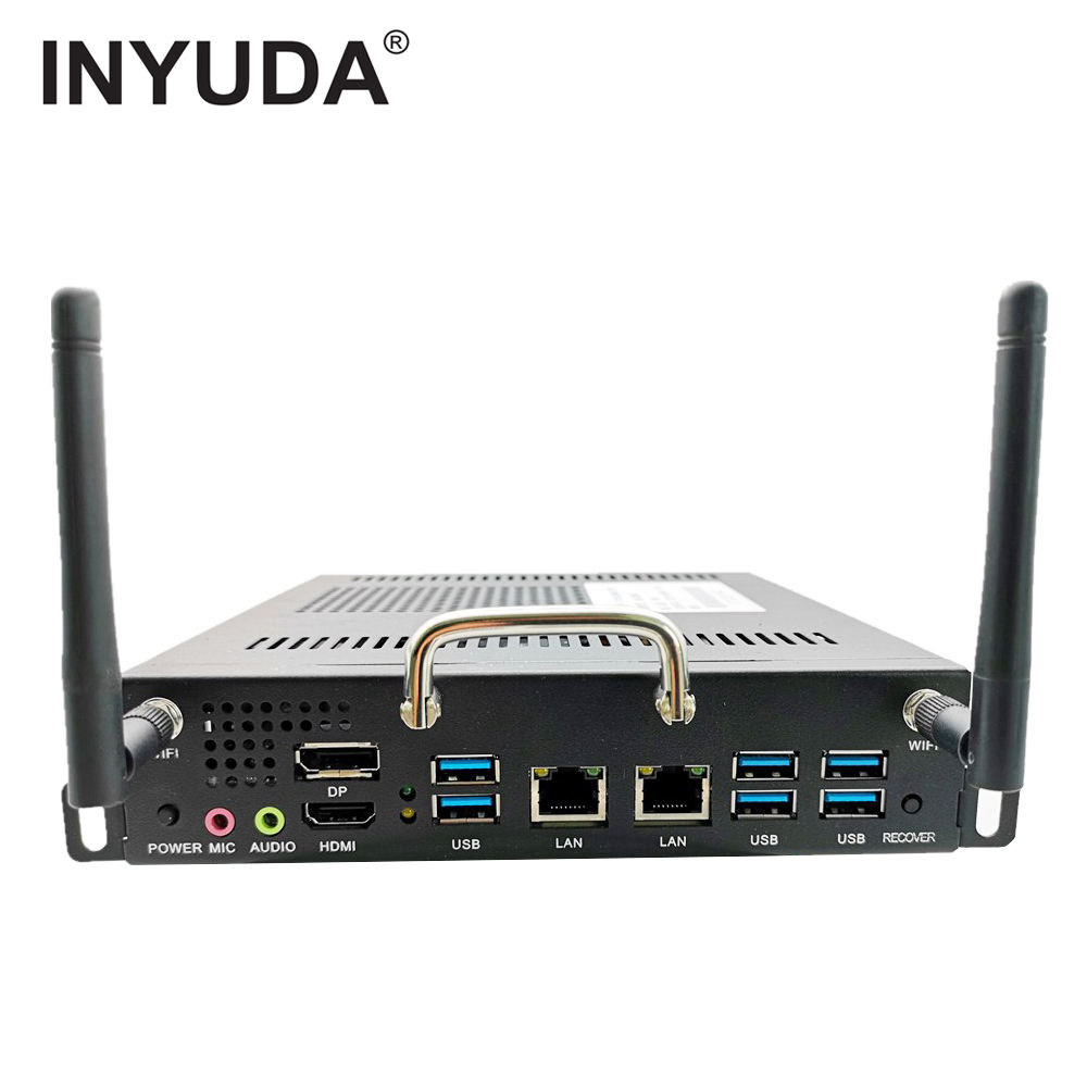 Inyuda Ultime Doppia RJ45 DDR4 Ram H110 <span class=keywords><strong>I7</strong></span> I5 I3 Quad-<span class=keywords><strong>Core</strong></span> del Processore Industriale Ops Mini Pc