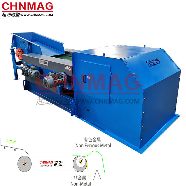 Aluminum Plastic Sorting Machine - Eddy Current Separator for Non Ferrous Metal Separation and Sorting from Plastic Material