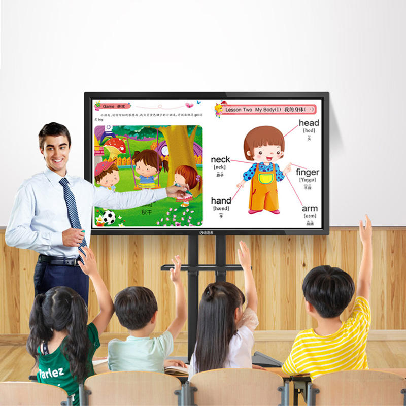 55inch LCD electronic whiteboard interactive touch screen writing software digital smart board Android