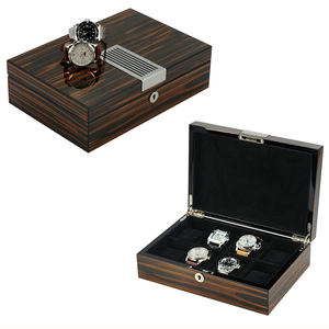 Sonny Watch Box Ebony Glossy Lacquer High Quality Watch Organizer for Big Wrist Watch