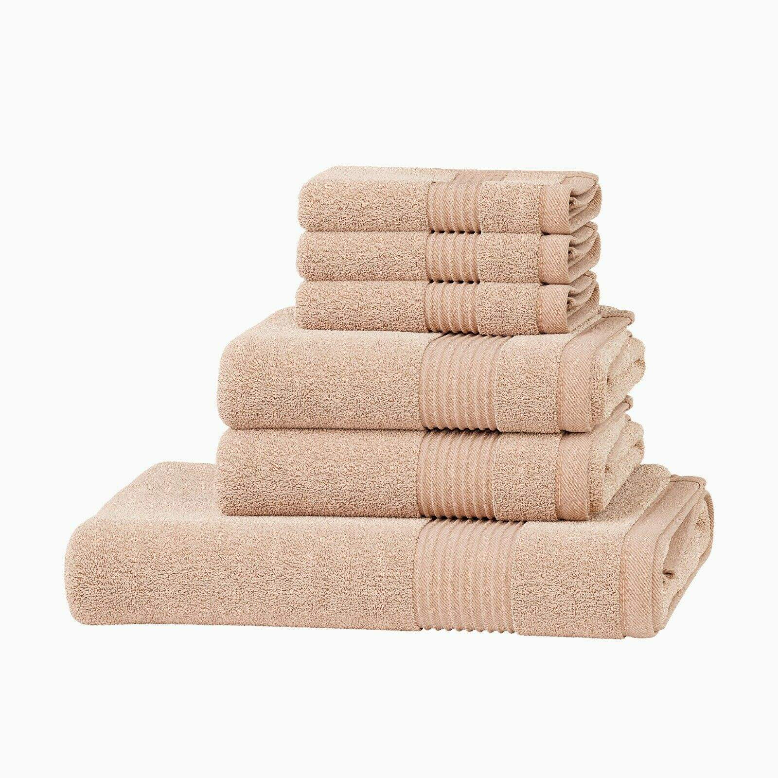 Luxury 100% Cotton 6 Pcs Towel Set Bathroom Towel Hand Bath Towel