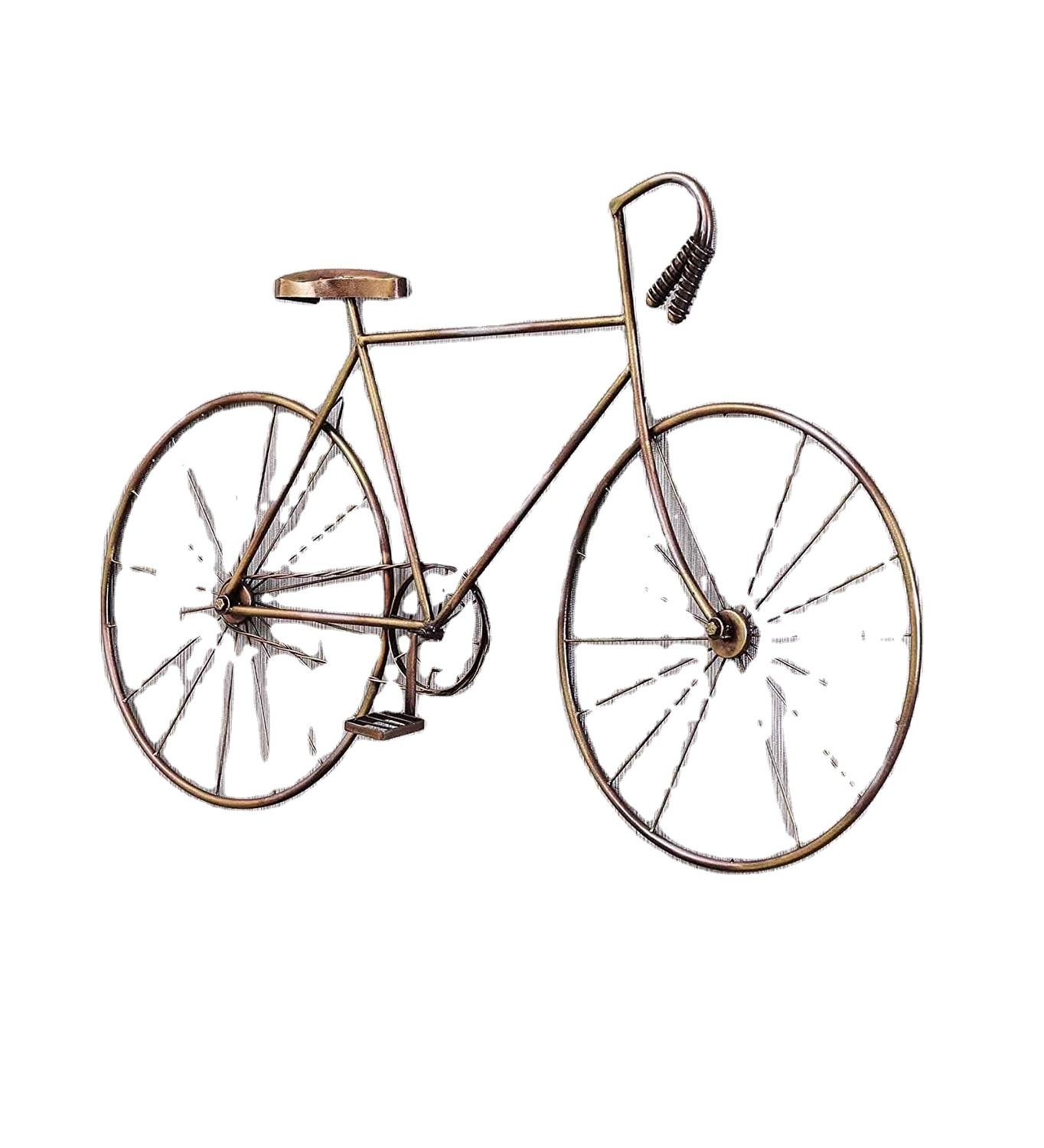 Quick Lead Lowest Price wall bicycle for Wall Deecor Home and Restaurant iron metal decorating bicycle