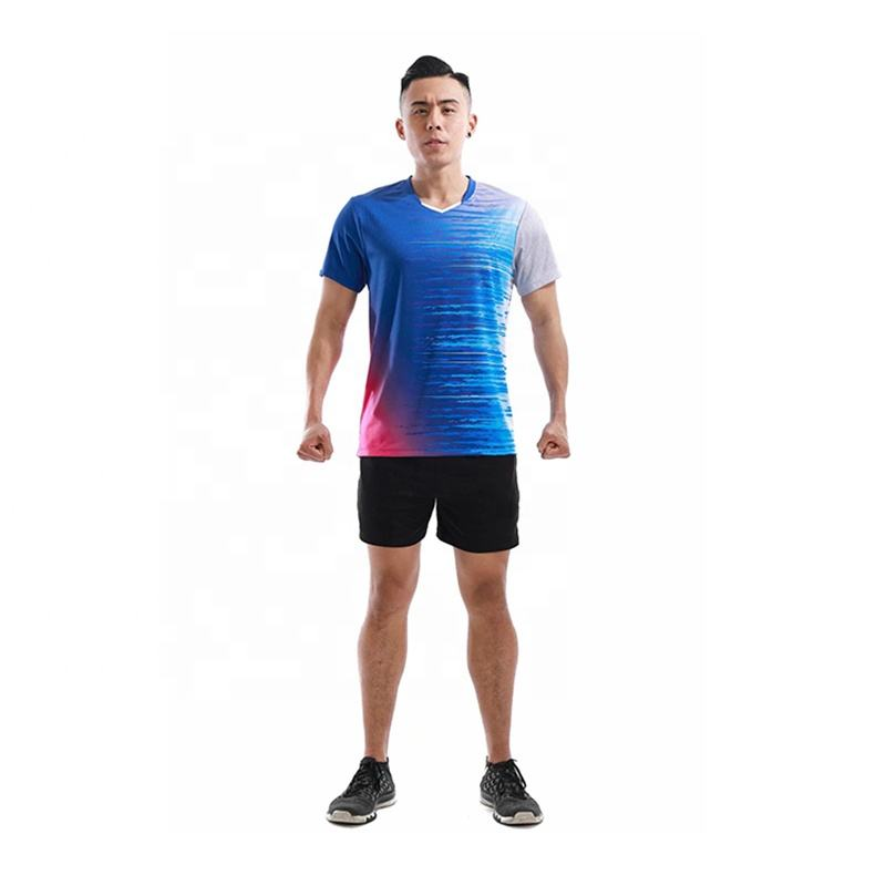 Latest Design Custom Fashion Sportswear Sublimation Short Sleeve Men Jersey Badminton
