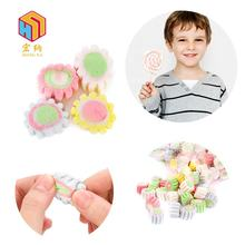 colorful halal cotton candy mini flower shape marshmallow for children