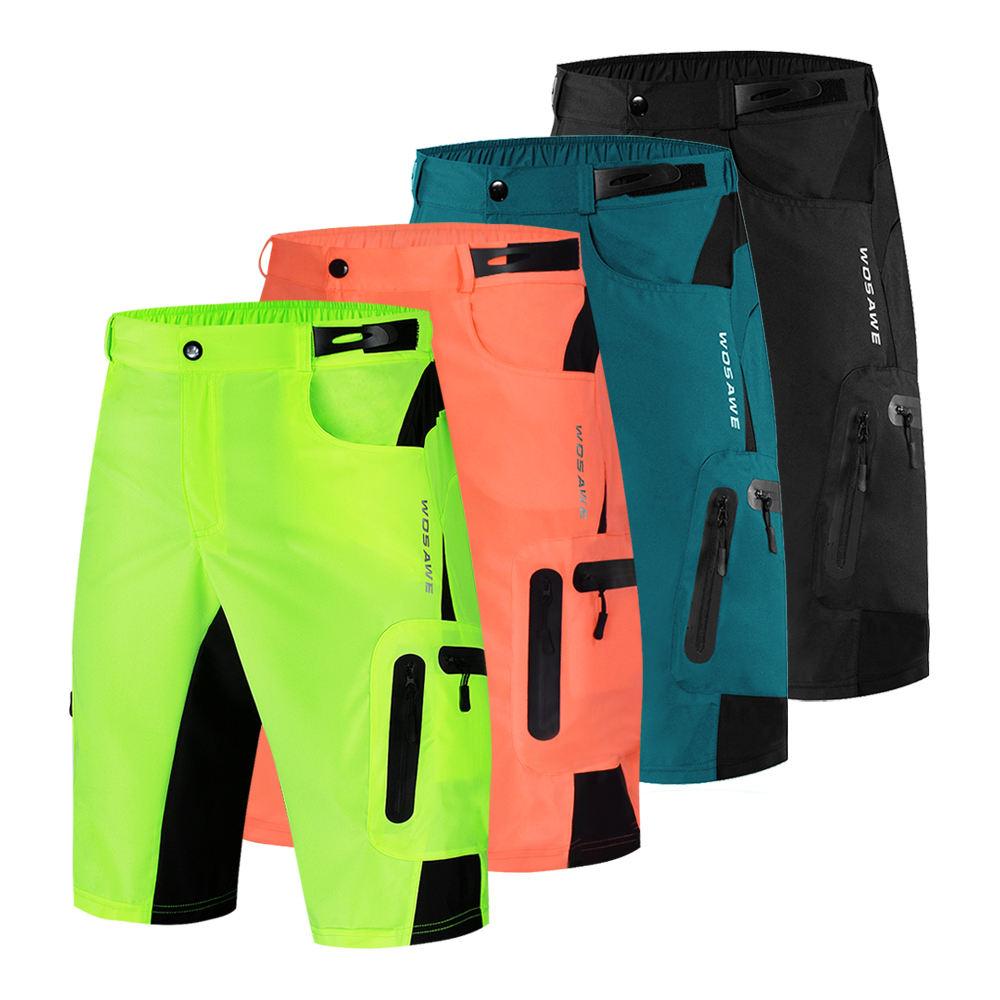 WOSAWE Mountain Bike Summer Men's Cycling Shorts Breathable Outdoor Sports MTB Riding Road Mountain Bike Running Shorts