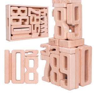 30 Pieces Number Toppling Timbers Wooden Blocks Game Stacking Blocks Stacking Tower Fun Outdoor Lawn Yard Game Education Toy