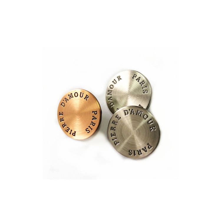 beautiful fashion engraved logo plating snap buttons for garment