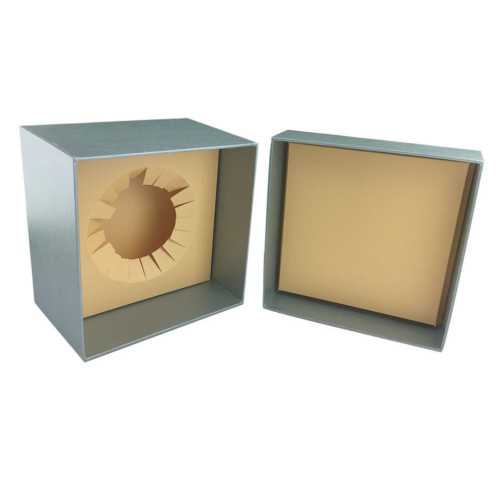 Custom logo printing beauty paper lid and base box cardboard packaging cosmetics gift box with paper insert