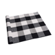 Youyue 100% Cotton Rugs Black/White Checkered Plaid Rug for Kitchen