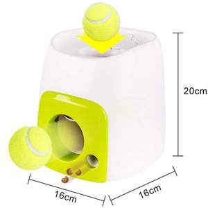 Pet Food Dispensing Reward Machine Dog Toys Training Pet Treat Ball Tennis Dog Ball Launcher