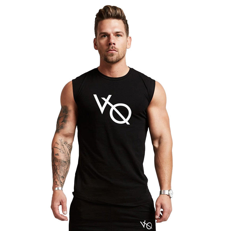 Summer New Design 10 Colors Weight 300g Mens Tank Tops Fashion Custom 90% Cotton Asian Size M-3XL Outdoor Running Vests YH-BX-23