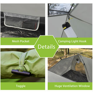 3-4 Person 3 Season ultra lightweight FiberGlass waterproof instant luxury camping tent double layer for outdoor hiking