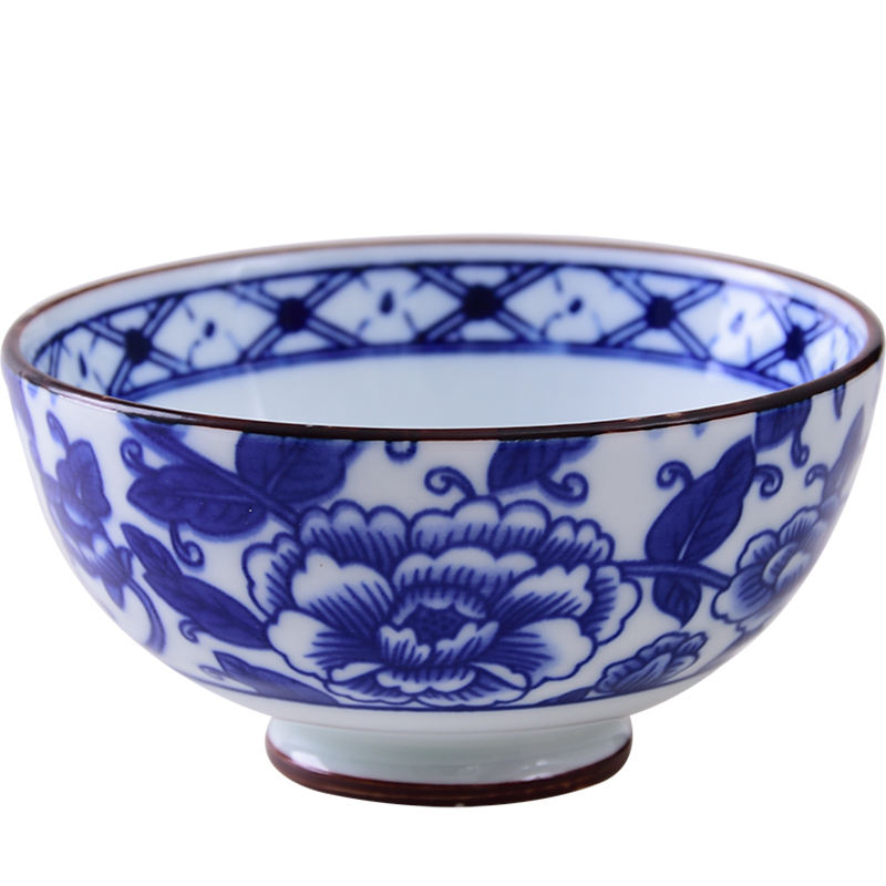 Chinese Monochromesk Style Porcelain High-footed Bowl 4.5 zoll für Home und Restaurant