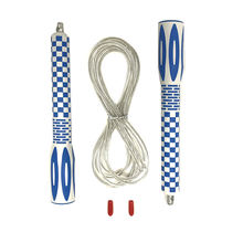Fancy rope skipping fitness adult kids long handle plastic pvc adjustable wire jump skipping ropes