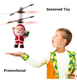 Promotional New Designed Cheap Xmas Toys Gift For Baby Girl Boy Santa Claus Infrared Sensor Aircraft Christmas Toy collcections