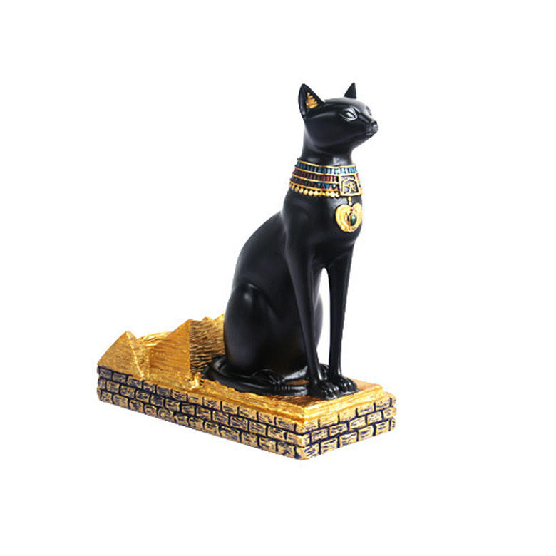 Vilead — Statue de chat égyptien en résine, Figurine de collection pour la Sculpture de chat en polyrésine, faite à la main, vente en gros