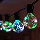 Hot Wedding Party Outdoor Decorative 30 Ft 25 Bulbs G40 Copper Wire LED Fairy Light Globe Festoon String Light