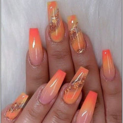 fashion nail foil coffin nail nails salon