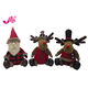 Hot selling christmas lovely sitting santa moose for christmas gifts