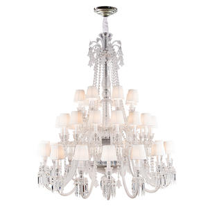 Modern Glass Ceiling Pendant Lighting Big Crystal Beautiful Color Baccarat Chandelier