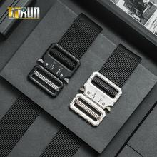 Fashion Nylon Fabric Webbing Canvas Strap Men Tactical Military Army Belt With Quick Release Metal Buckle