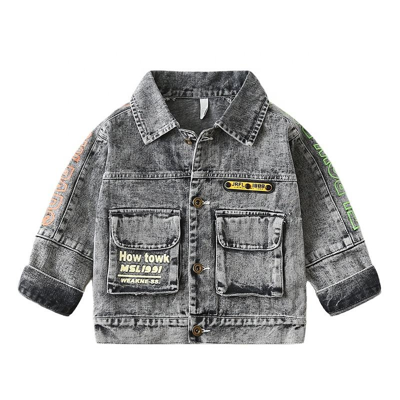 Boys Denim Jacket Toddler Jeans Casual Kids Long Sleeve Outdoor Coat Children Turn-Down Fashion Jacket