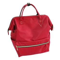 Red Color Large Capacity Multi-function Backpack Concise Style Practical Mummy Bag