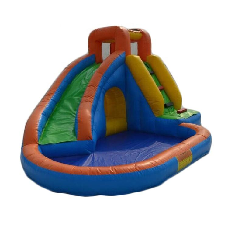 Good price inflatable water slide, inflatable slide with pool B4115